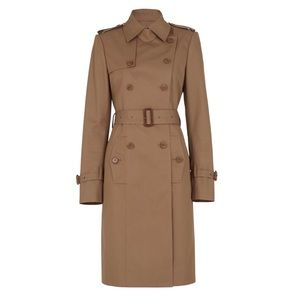 BCBG Kingston Trench Coat in Light Jute Beige